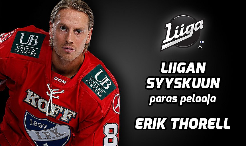 Liiga's Player of the Month: Erik Thorell