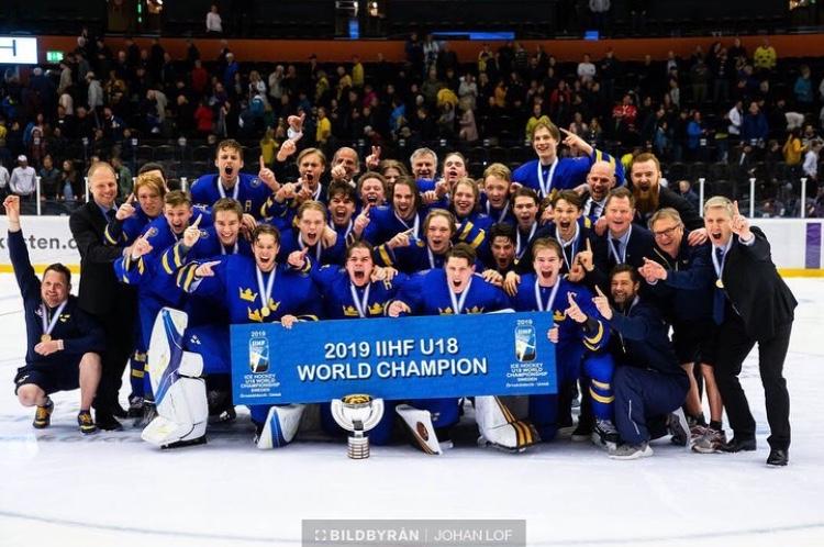 Alnefelt, Brännstam, and Nybeck are U18 World Champions