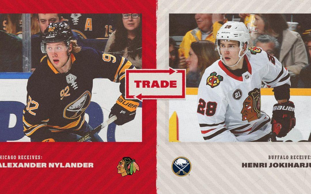 Alex Nylander Traded to Chicago Blackhawks