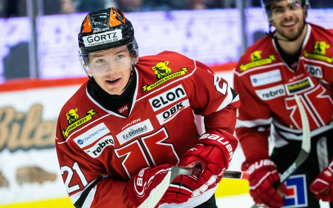 Linus Öberg Signs Rookie Contract With Örebro Hockey