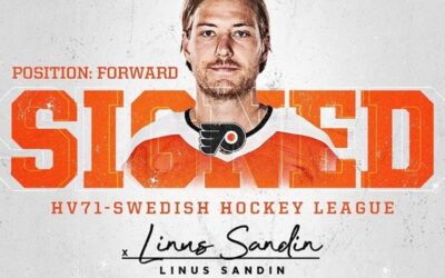 Linus Sandin Signs Entry-Level Contract with Philadelphia Flyers